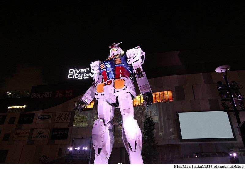 日本台場 鋼彈 彩虹大橋 自由女神 景點11