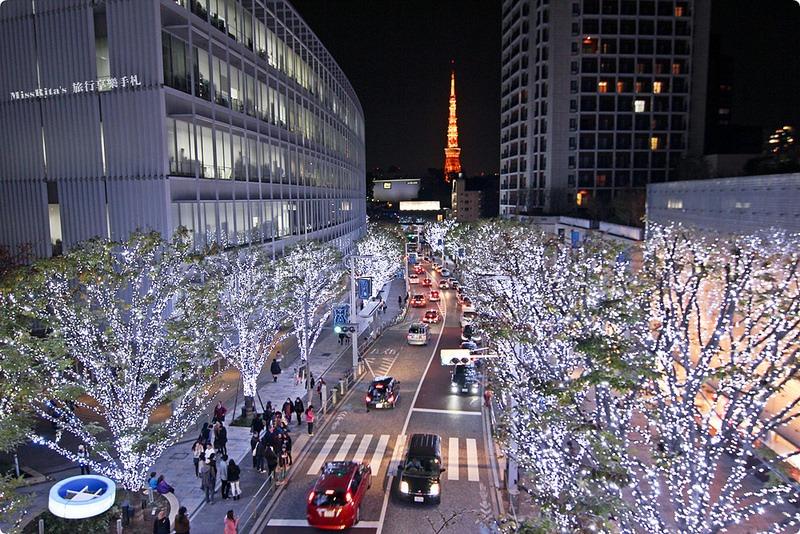 日本東京 東京夜景 六本木之丘 六本木Hills 六本木夜景 Tokyo city view 六本木大道 東京聖誕點燈 2014東京點燈0